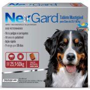 Antipulgas e Carrapatos Nexgard 136 mg para Cães de 25,1 a 50 kg - Merial (3 tabletes)