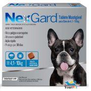 Antipulgas e Carrapatos Nexgard 28,3 mg para Cães de 4,1 a 10 kg - Merial (3 tabletes)