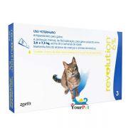 Antipulgas, Sarnas e Vermes Revolution 6% para Gatos de 2,6 a 7,5 kg  - Zoetis (combo com 3 pipetas)