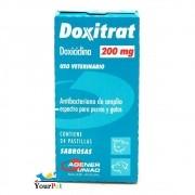 Doxitrat 200 mg - Antibateriano à base de Doxiciclina para Cães e Gatos - Agener (24 comprimidos palatáveis)
