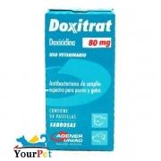 Doxitrat 80 mg - Antibateriano à base de Doxiciclina para Cães e Gatos - Agener (24 comprimidos palatáveis)