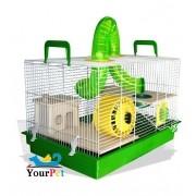 Gaiola Bragança Jerry Natureza Tubos Divertidos para Hamster e Gerbil - GR155 (Verde)