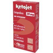 Ketojet 20 mg - Anti-inflamatório para Cães e Gatos à base de Cetoprofeno - Agener (10 comprimidos palatáveis)