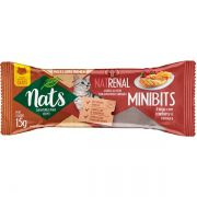 Kit com 6 Snacks Mini Bits Nats para Gatos - 3 NatHairball + 3 NatRenal (15g)