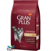 Ração Gran Plus Castrados Frango e Arroz para Gatos Adultos (10,1 kg / 10 pacotes individuais de 1kg cada) - Guabi