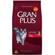 Ração Gran Plus Gatos Castrados Carne e Arroz - Affinity Guabi (10 pacotes de 1kg cada)