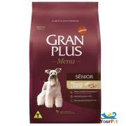 Ração Gran Plus Cães Menu Senior Frango e Arroz para Cães Adultos com mais de 7 anos (15 kg) - Guabi