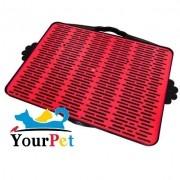 Sanitário Dog Toalete com Grade - Furacão Pet (Vermelho)