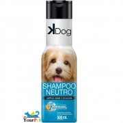 Shampoo Neutro K Dog para Cães e Gatos - Limpeza Suave e Delicada - Total Química (500 ml)
