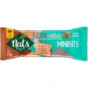 Snacks Mini Bits NatHairball Malte e Valeriana para Gatos - Auxílio na eliminação de bolas de pelo - Nats (15g)