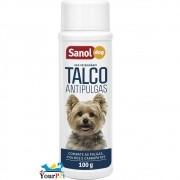 Talco Antipulgas Sanol Dog para Cães - Combate Pulgas, Piolhos e Carrapatos - Total Química (100 g)