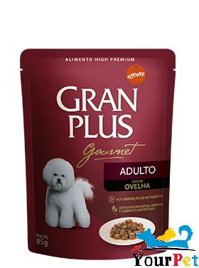 Alimento úmido Gran Plus Sachê Gourmet Ovelha para Cães Adultos - Guabi (85g)