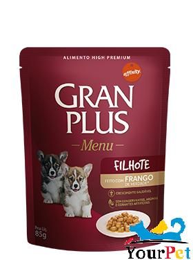 Alimento úmido Gran Plus Sachê Menu Frango para Cães Filhotes - Guabi (85g)