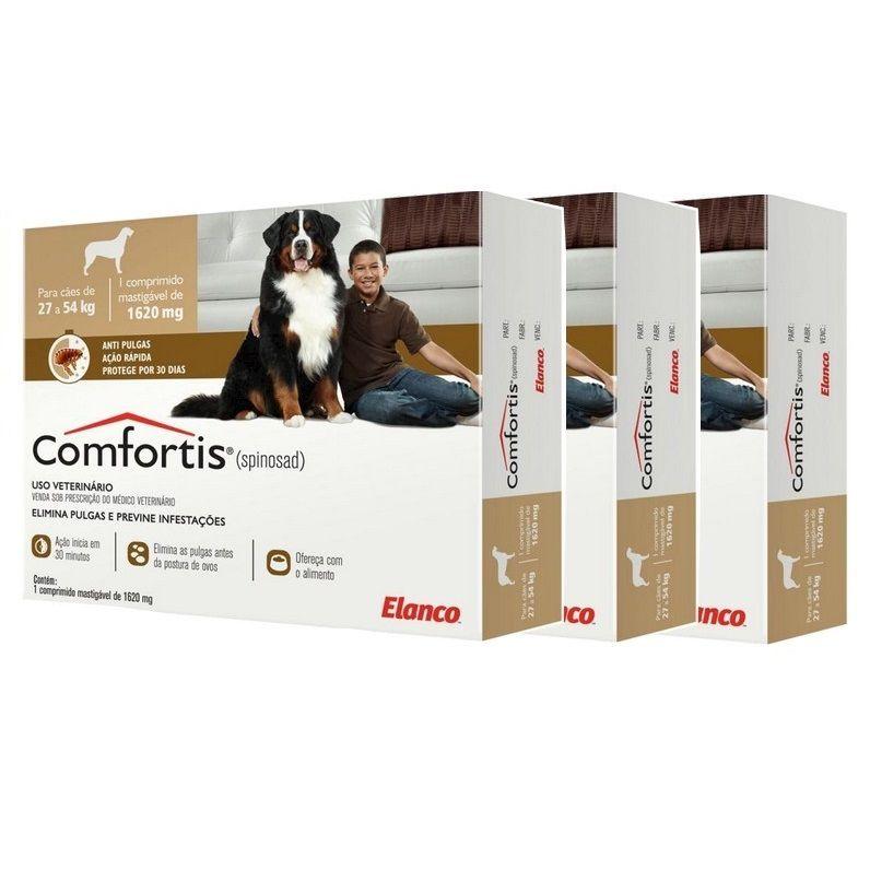 Antipulgas Comfortis 1620 mg para Cães de 27 a 54 Kg - Elanco (COMBO)