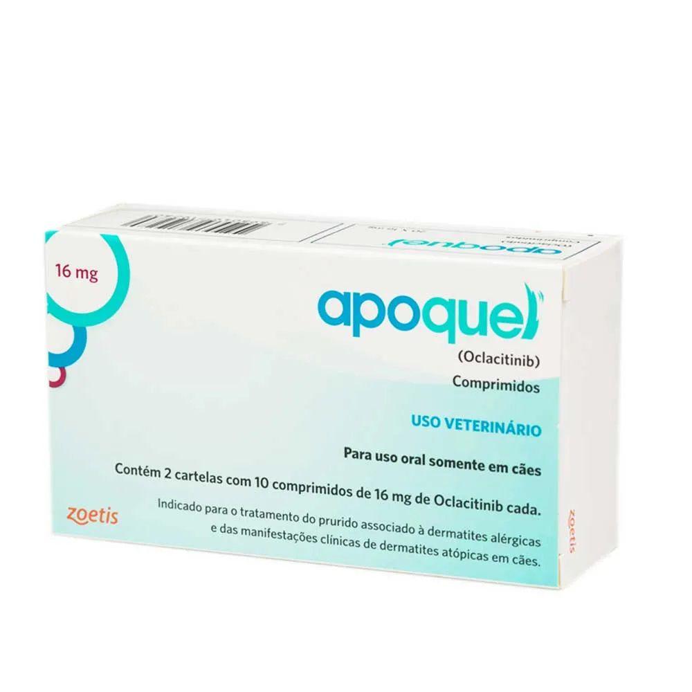 Apoquel 16 mg (Oclacitinib) Dermatológico para Cães - Zoetis (20 comprimidos)
