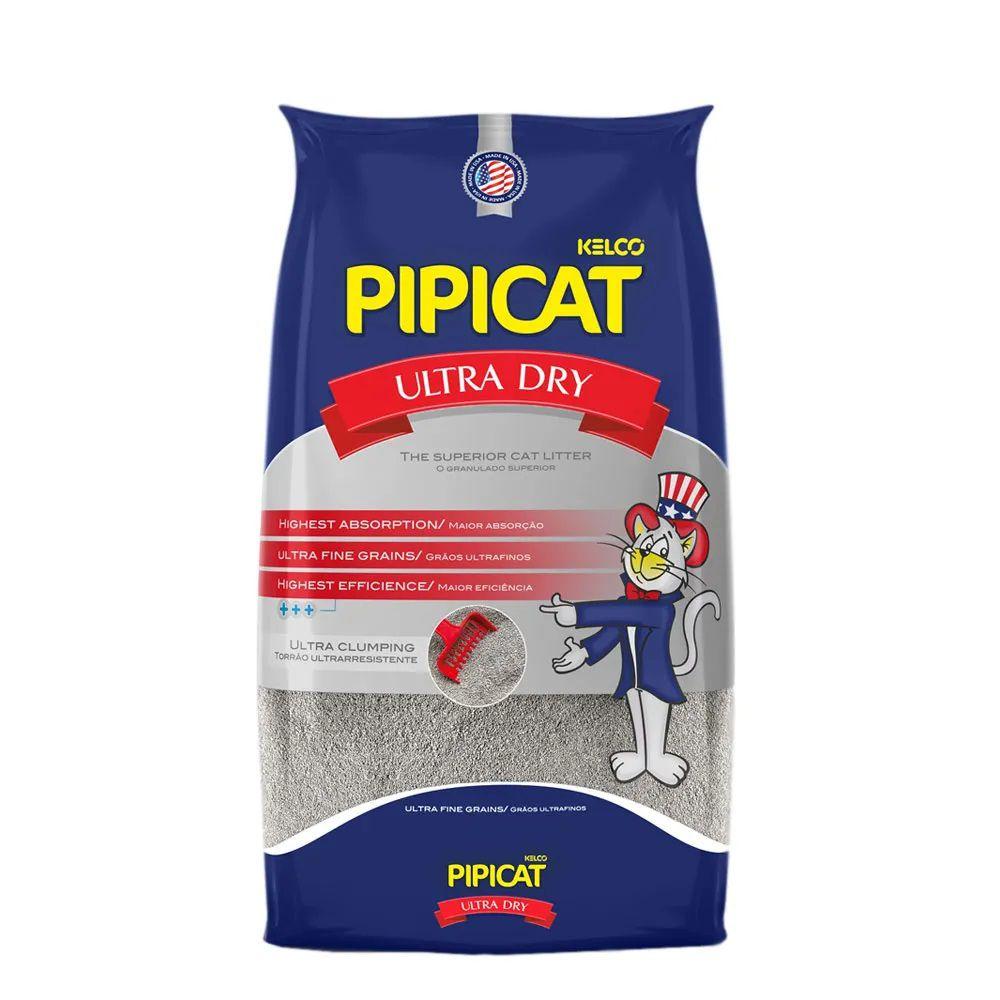 Areia Sanitária Pipicat Ultra Dry para Gatos - Kelco (4kg)