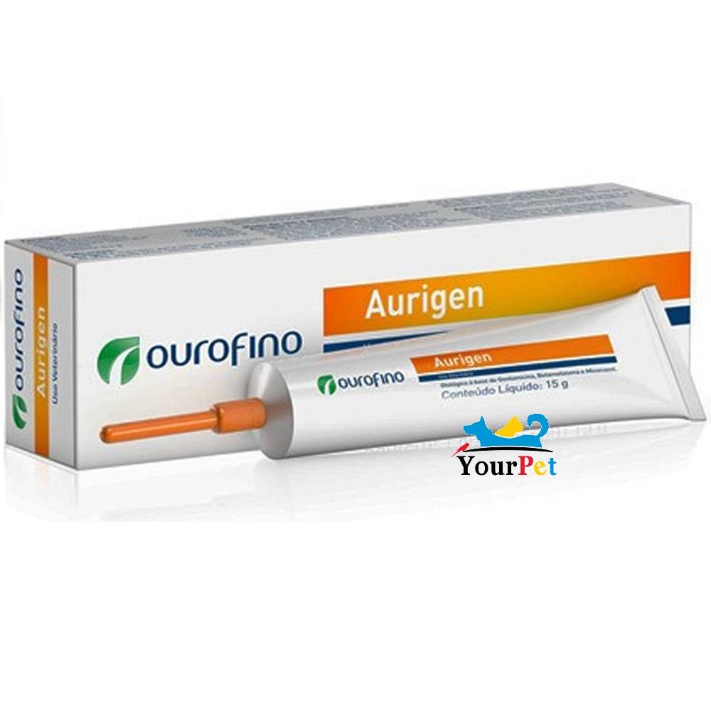 Aurigen OuroFino - Gel otológico (Gentamicina, Betametasona e Miconazol) para tratamento de Otite em Cães (15g)