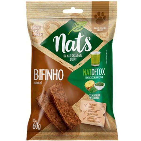 Bifinho Natural Super Premium NatDetox Sensação de Bem Estar para Cães - Nats (60g)