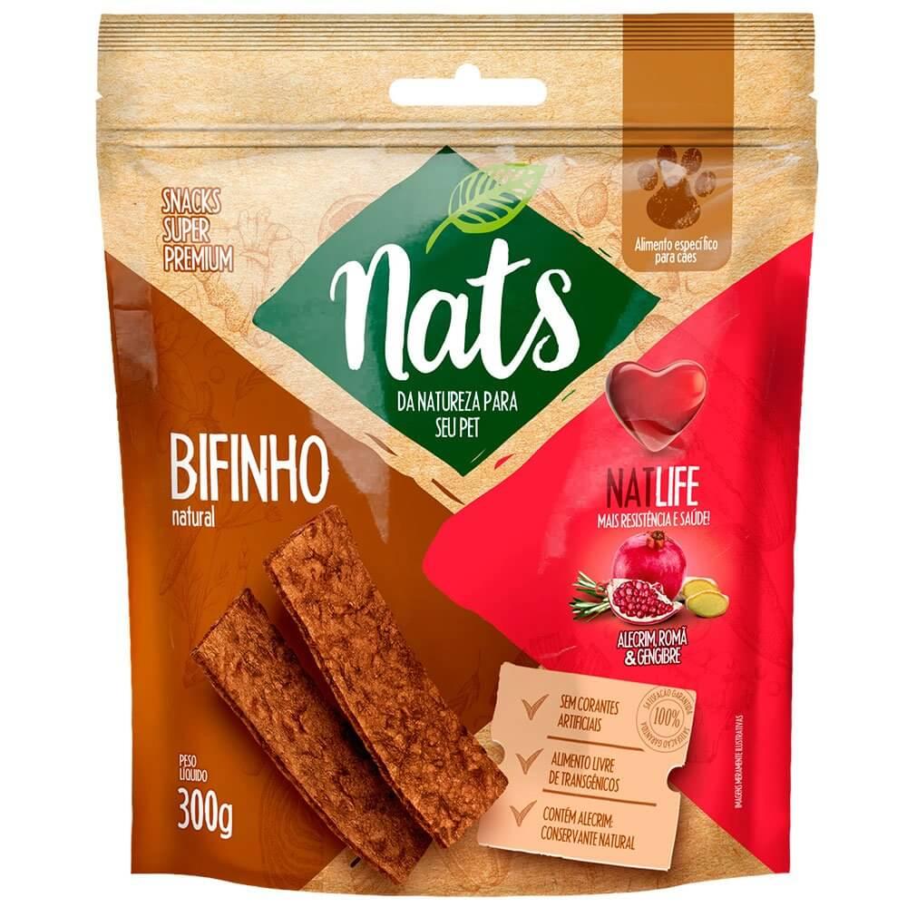 Bifinho Natural Super Premium NatLife Mais resistência e Saúde para Cães - Nats (300g)