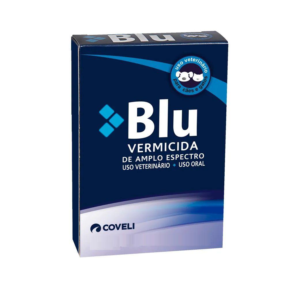Blu 4 - Vermífugo para Cães e Gatos - Coveli (4 comprimidos)