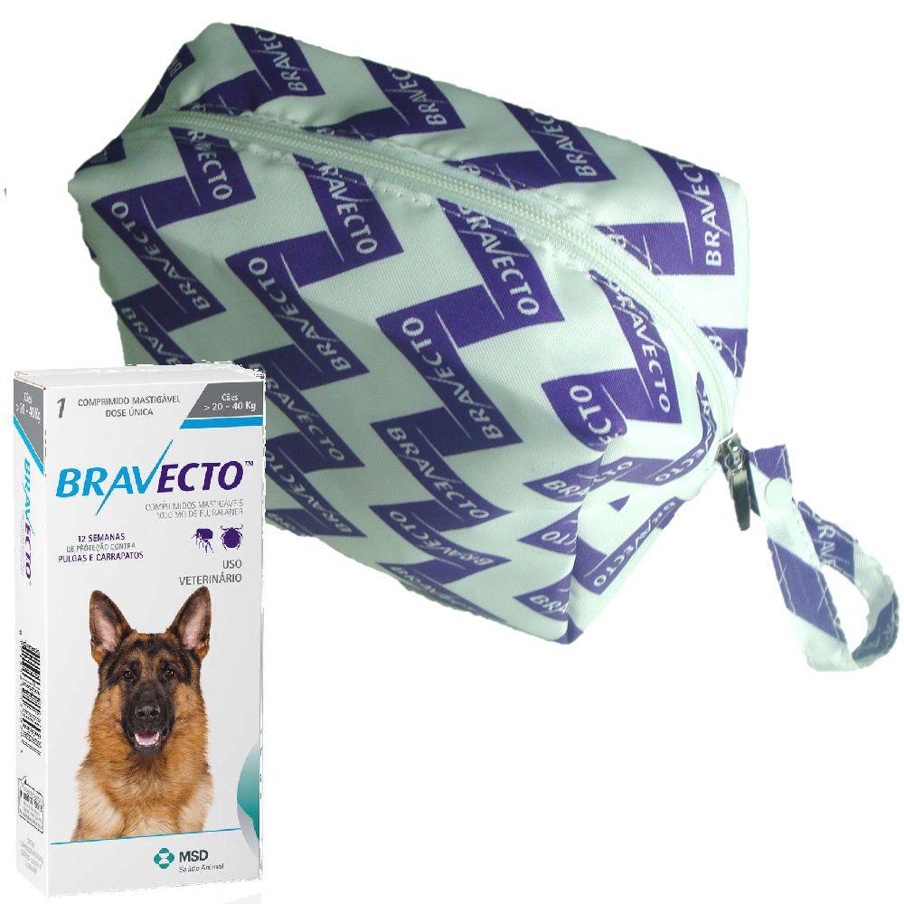 Bravecto MSD 1000mg 20 a 40kg Antipulga e Carrapato + Brinde