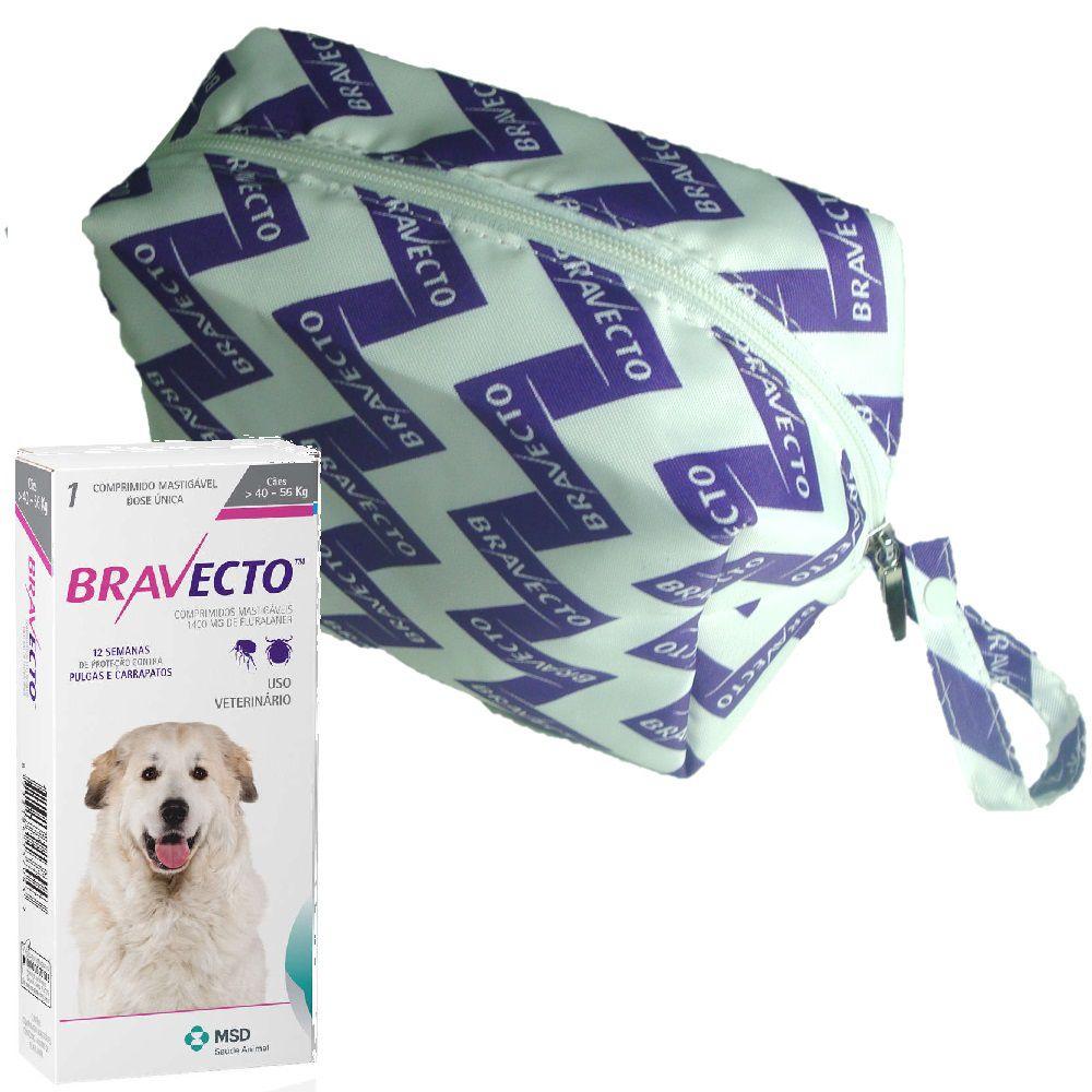 Bravecto MSD 1400mg 40 a 56kg Antipulga e Carrapato + Brinde