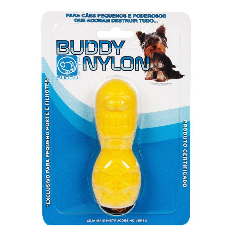 Brinquedo de Nylon para Cães Destruidores - Pulguinha de Nylon - Buddy Toys (Amarelo)