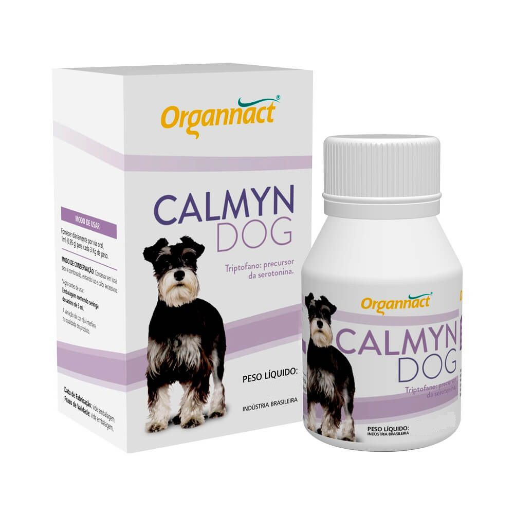 Calmyn Dog - Suplemento Mineral Vitamínico Aminoácido com Triptofano para Cães - Organnact (120 ml)
