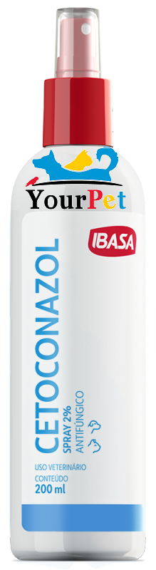 Cetoconazol Spray 2% Antifúngico para Cães e Gatos - Ibasa (200 ml)