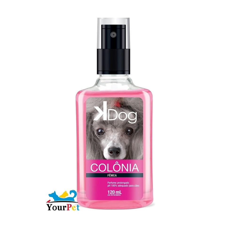 Colônia K Dog Fêmea para Cães e Gatos - Total Química (120 ml)