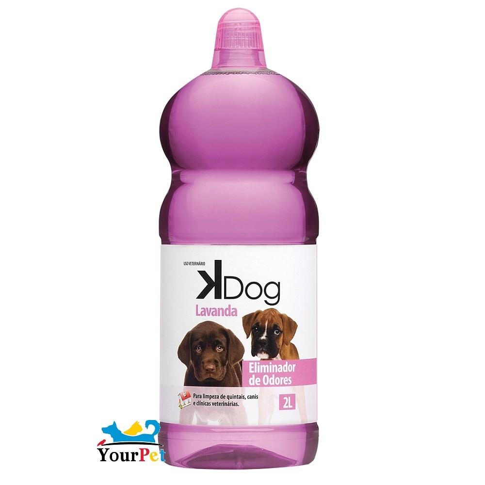 Eliminador de Odores Lavanda K Dog - Limpeza de quintais, canis e clínicas veterinárias - Total Química (2l)
