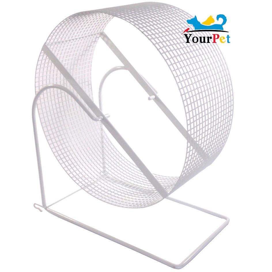 Exercitador de arame Gira-gira (rodinha) para Chinchila e Rato Twister - Gigante (30 cm de diâmetro) - Bragança (Branca)