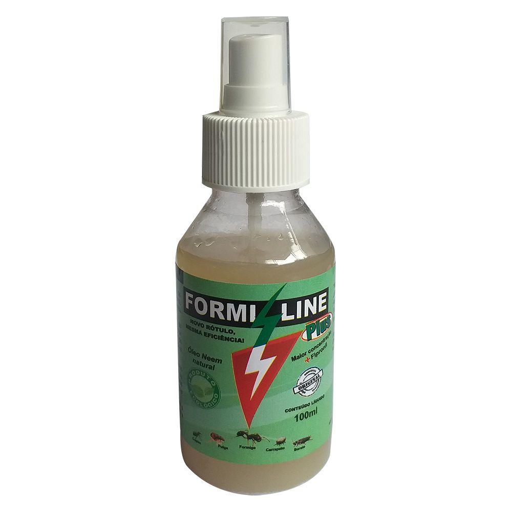 FormiLine Plus Spray - Controle de Insetos Voadores, Rasteiros e parasitas (Pulgas e Carrapatos) - Union Farm (100 ml)