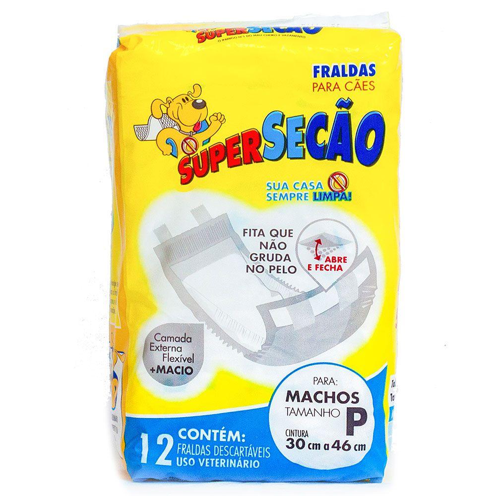 Fralda descartável Super Secão para Cão Macho - Petix (12 unidades) P