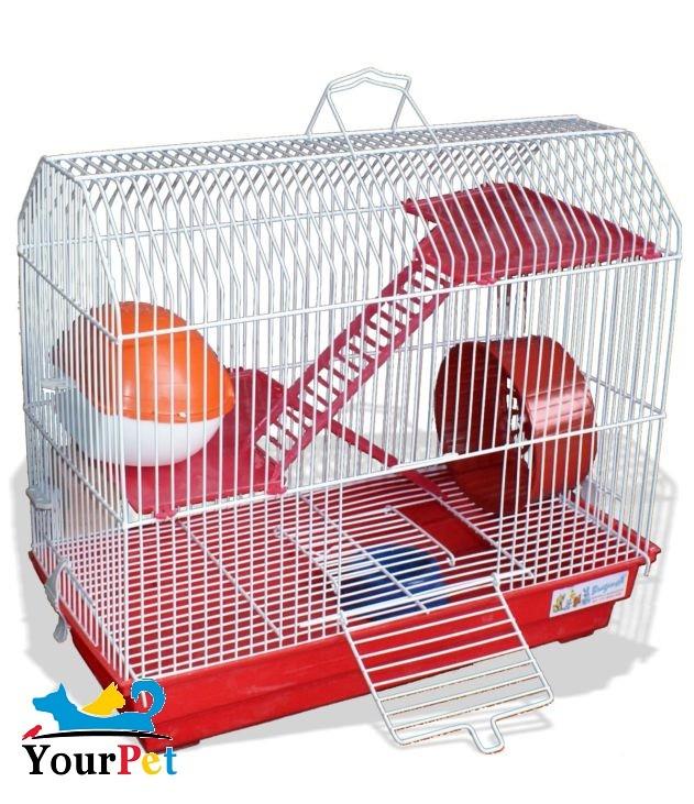 Gaiola Bragança Capela para Hamster - GR304 (Vermelha)
