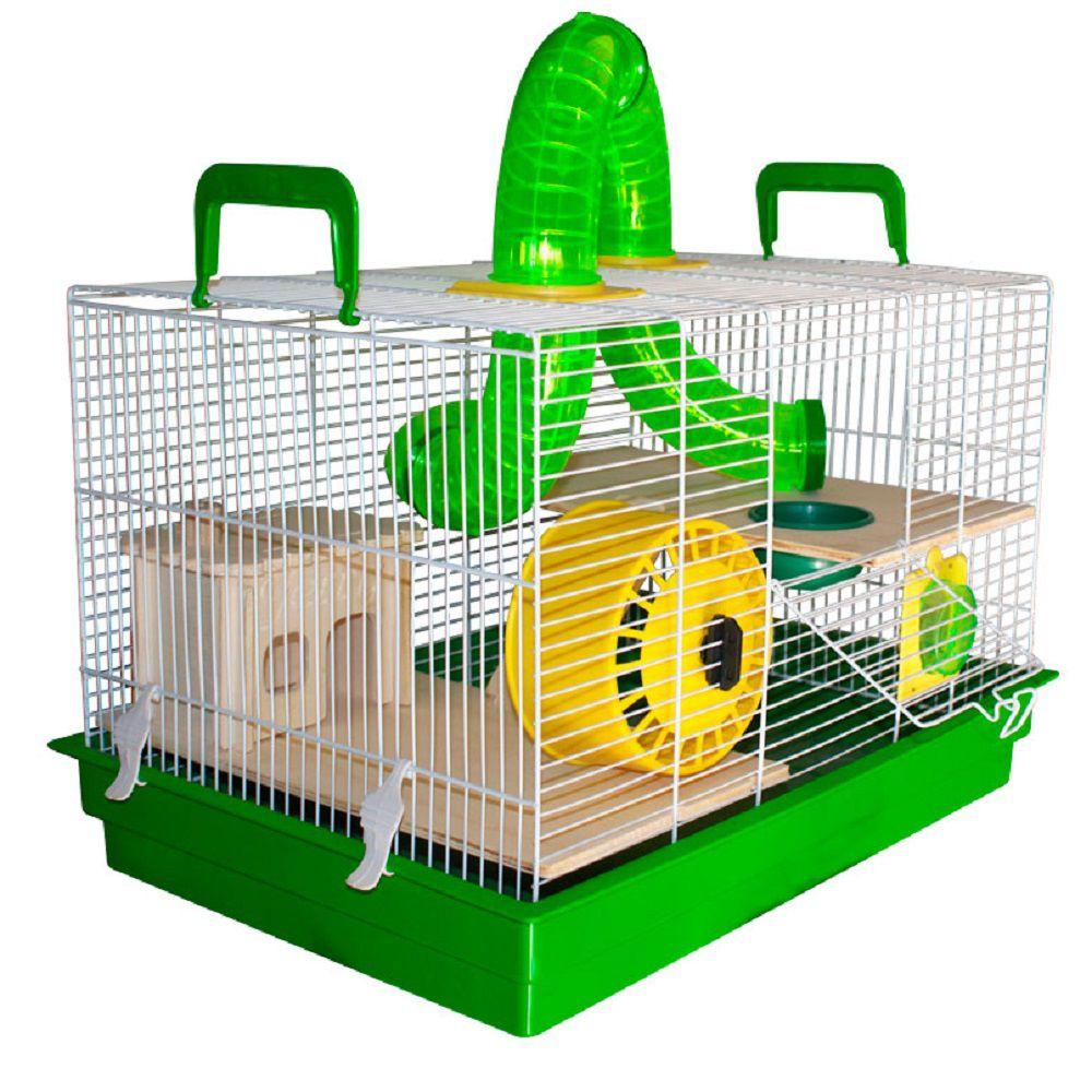Gaiola Bragança Jerry Natureza Tubos Divertidos para Hamster - GR155 (Verde)
