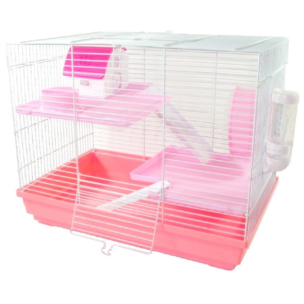Gaiola Hamster Luxo - Chalesco (Rosa)