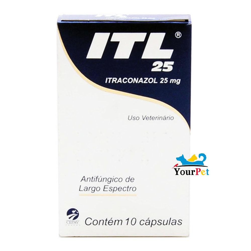 ITL 25 Cepav - Antifúngico de Largo Espectro à base de Itraconazol 25mg (10 cápsulas)