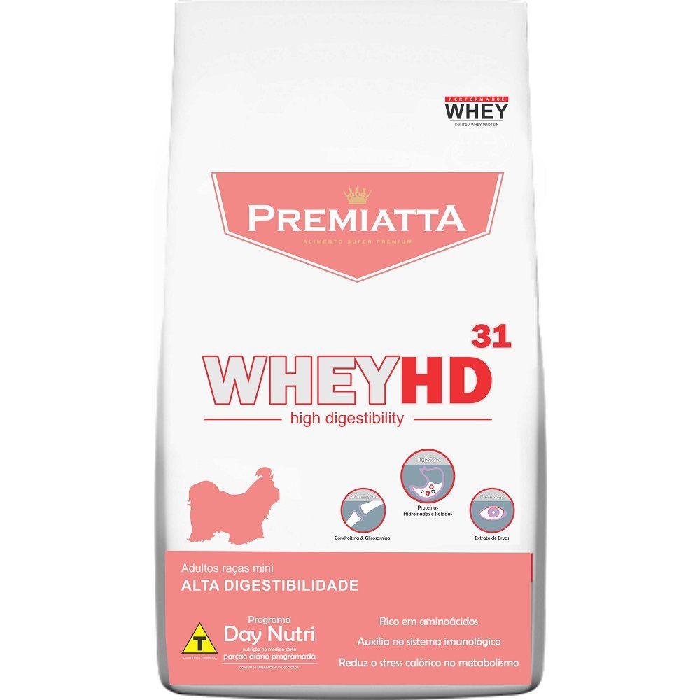 Kit com 2 pct - Ração Premiatta Whey HD 31 Combate Lágrima Ácida para Cães Adultos Raças Miniaturas (3 kg=30x100g)