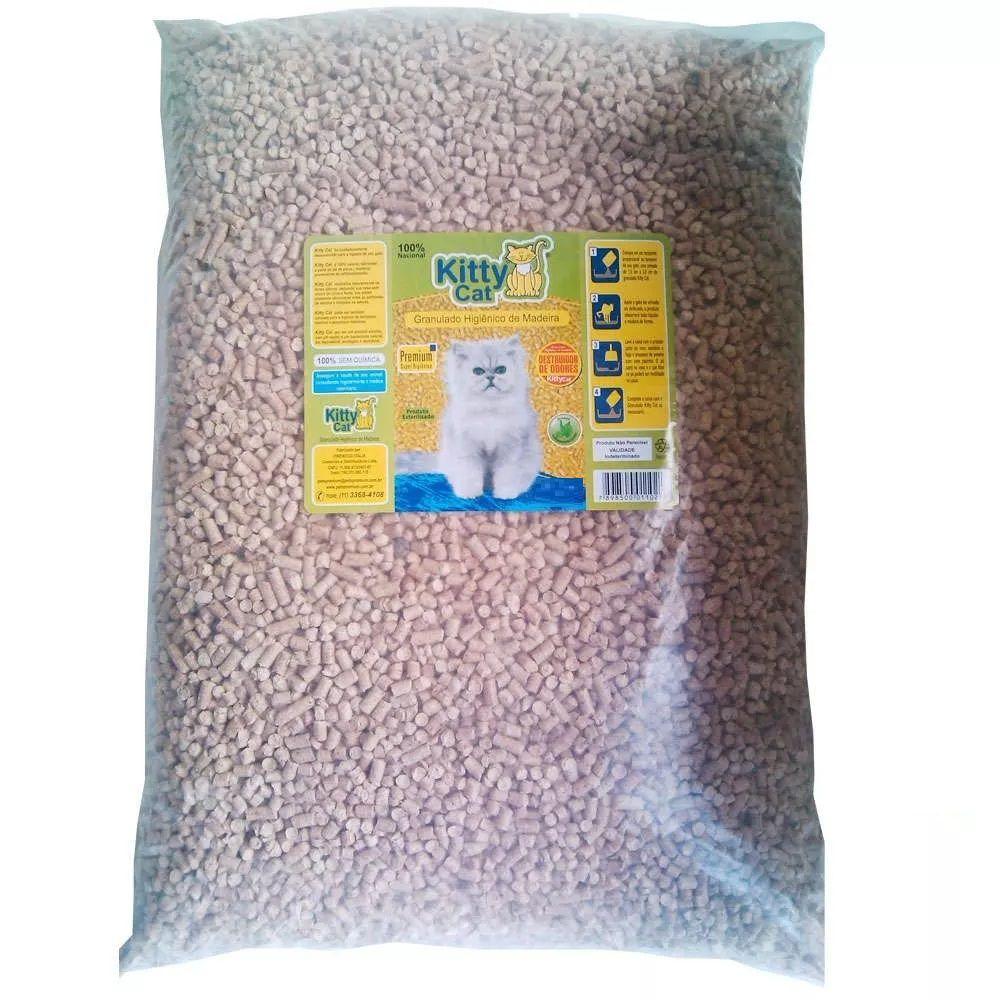 Kitty Cat Granulado Sanitário de Madeira para Gatos (25kg)