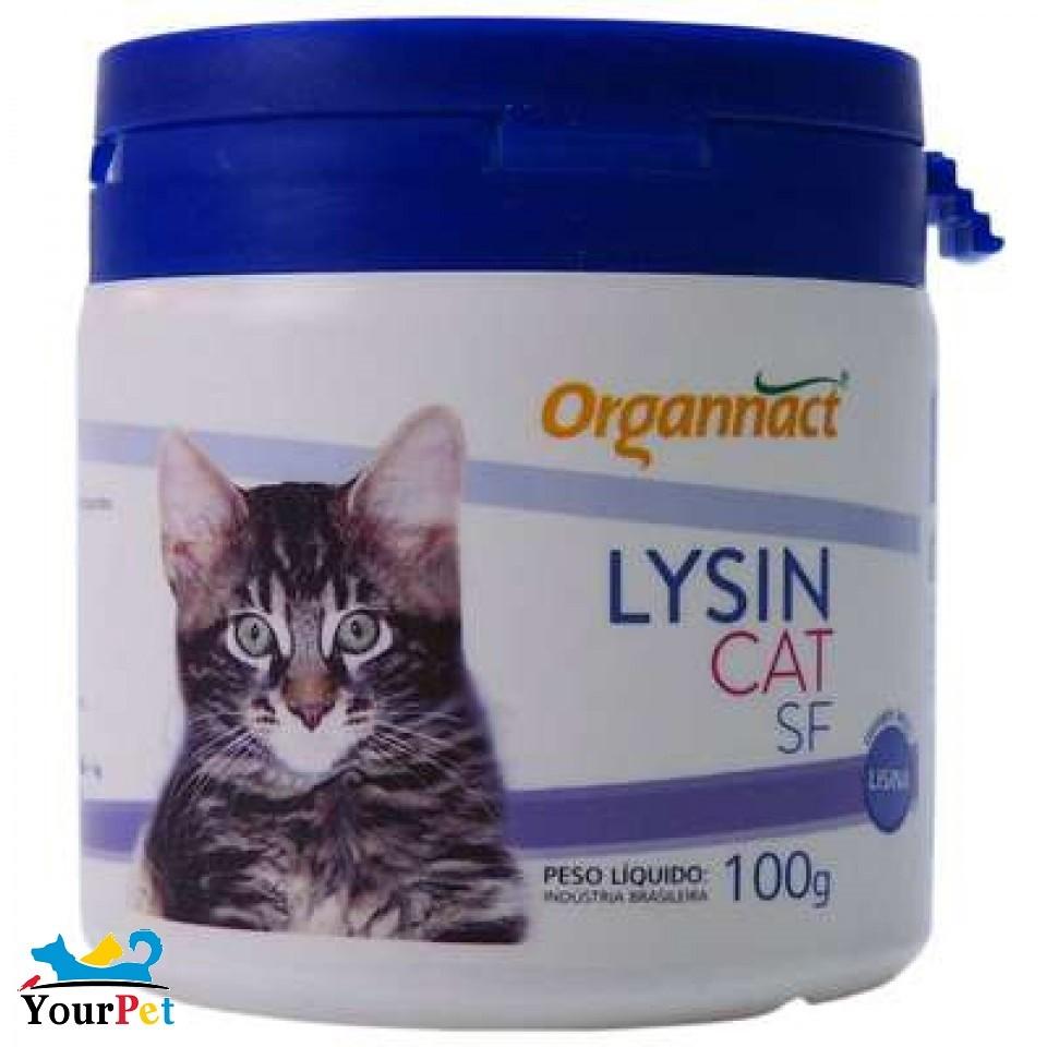Lysin Cat SF - Suplemento Vitamínico Aminoácido para Gatos - Organnact (100 g)