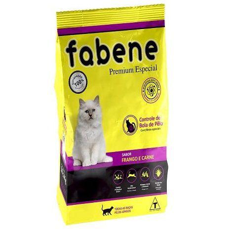 Ração Fabene Feline Frango e Carne para Gatos Adultos - Premiatta (10,1 kg)