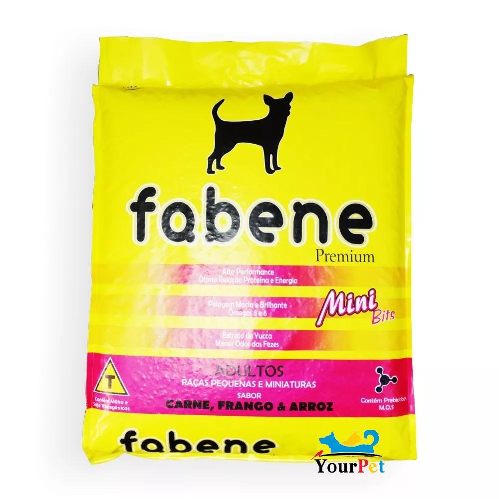 Ração Fabene Mini Bits para Cães Adultos de Porte miniatura e pequeno (15 kg)