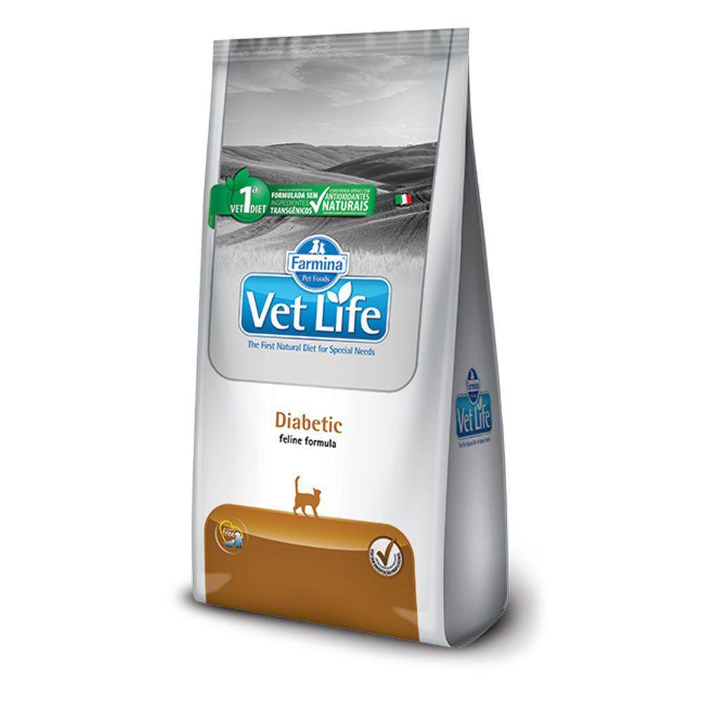 Ração Farmina Vet Life Feline Diabetic para Gatos com Diabete Mellitus (2 kg)