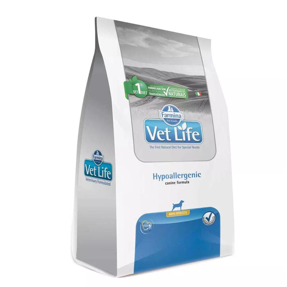 Ração Farmina Vet Life Hypoallergenic Mini Breeds Cães Adultos Pequenos com alergias ou intolerância a nutrientes (2 kg)
