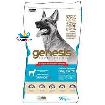Ração Gênesis para Cães de Raças Grandes Filhotes e Adultos - Premiatta (9 kg)