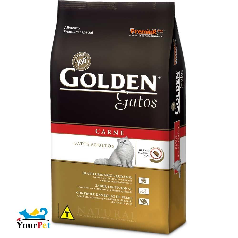 Ração Golden Carne para Gatos Adultos - PremieR (3 kg)