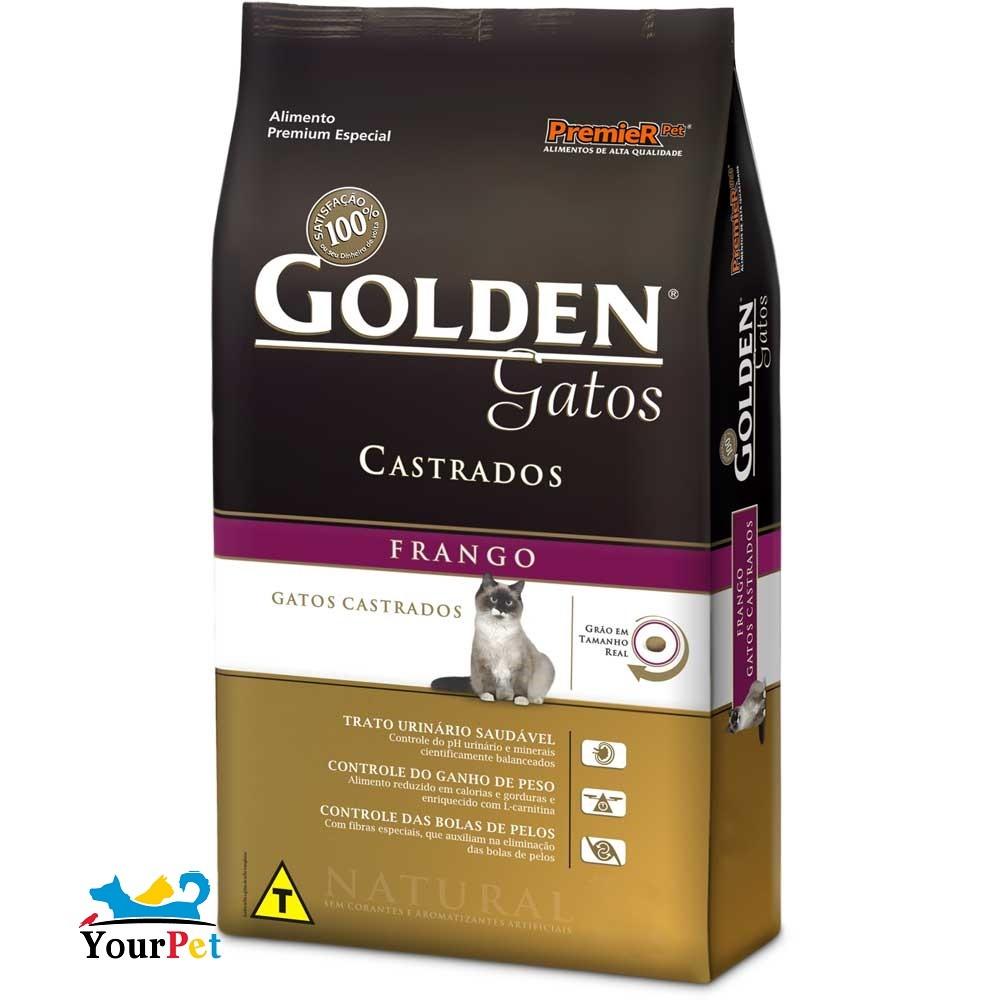 Ração Golden Castrados Frango para Gatos Adultos - PremieR (10,1 kg)