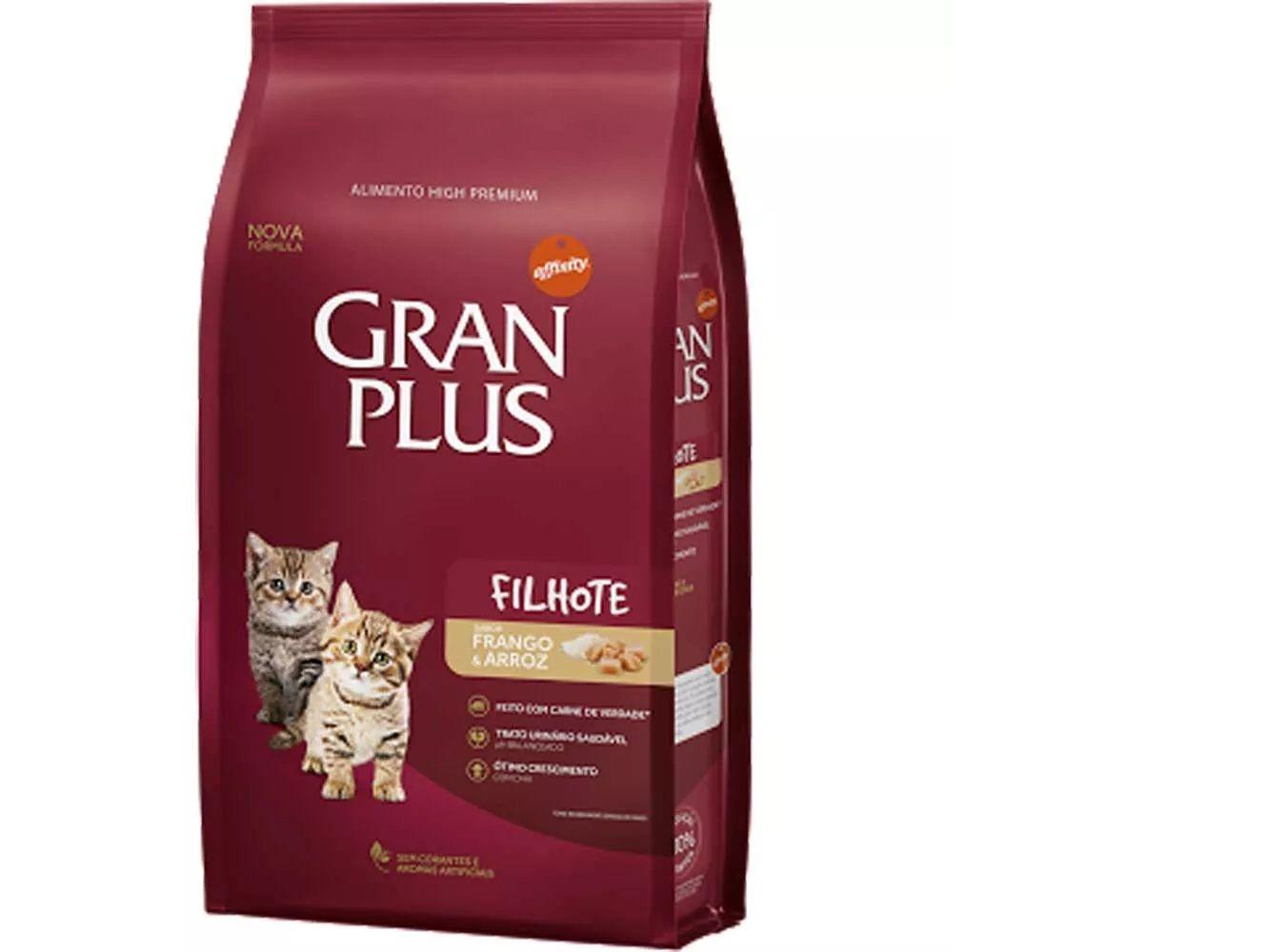 Ração Gran Plus Gatos Filhotes Frango e Arroz (10,1 kg) - Guabi