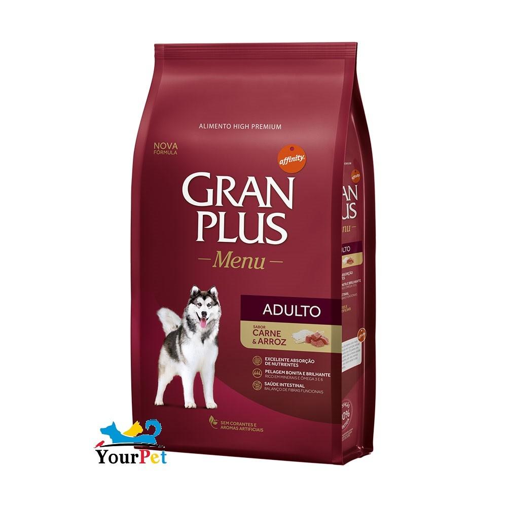 Ração Gran Plus Menu Carne e Arroz para Cães Adultos (15 kg) - Guabi